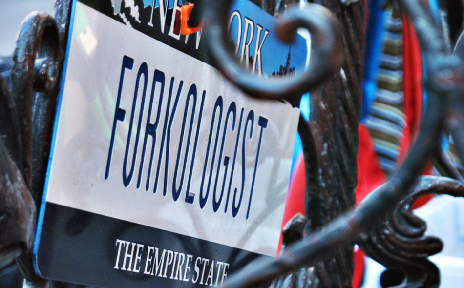 Forkologist stall on Union Square NYC 2009
