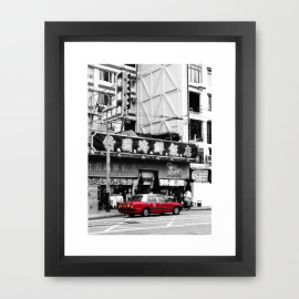 Honk Kong Taxi Framed