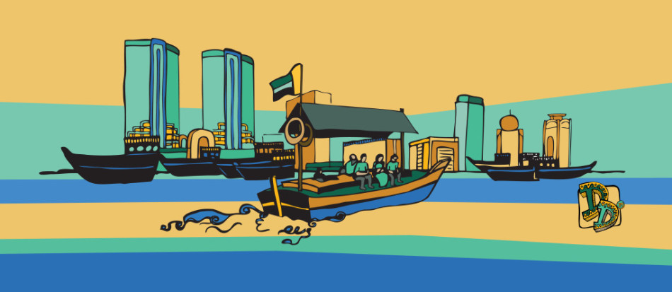 Dubai-Doodles-Abra-Dubai-Creek
