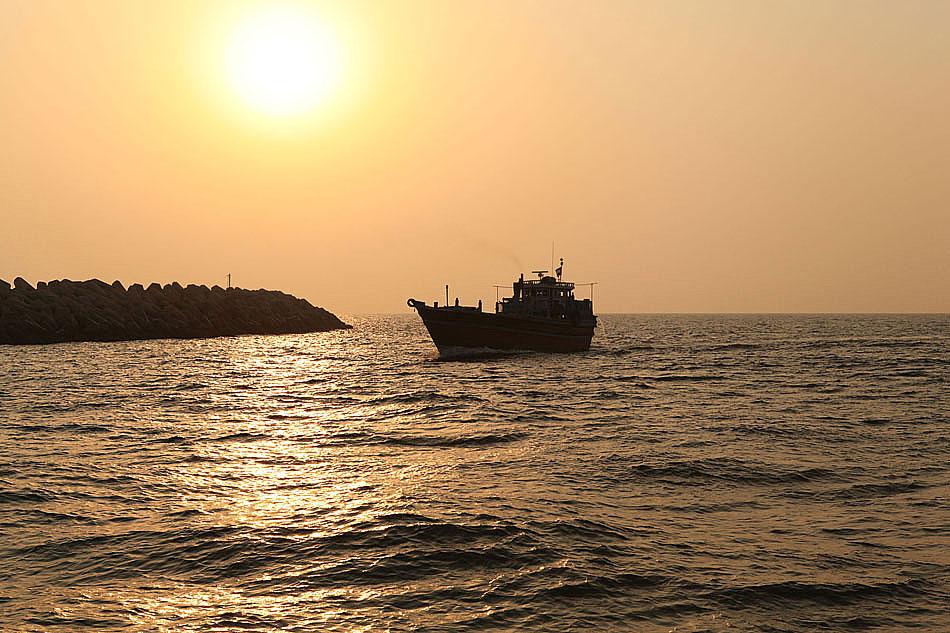 Zachód słońca nad Zatoką Perską