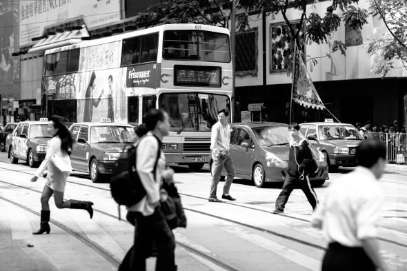 Street in a Hong Kong