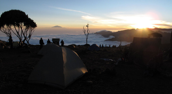 Kibo 2012 - sunset over the Mt Meru