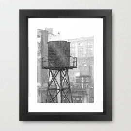 Water Towers 002 Framed