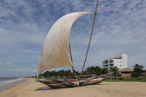 Katamaran on the beach in Negombo