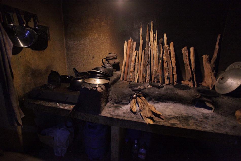 Kitchen in the Sri Lankan jungle
