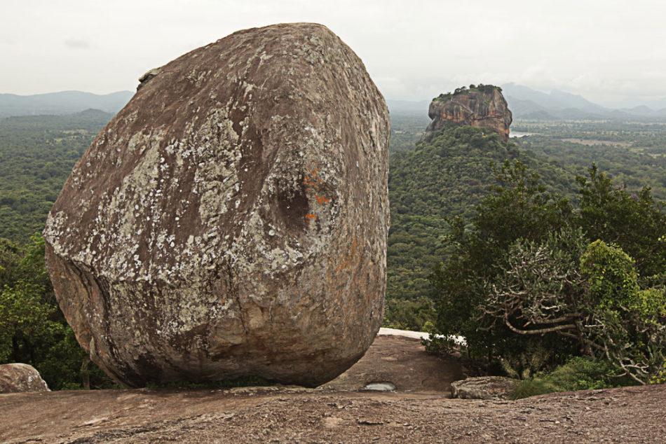 View of the Lion Rock in Sigiriya