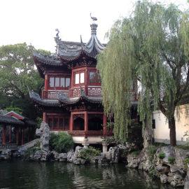 """Pawilon """"szumiących wierzb"""" -- Ogród Yuyuan (Yu Garden 豫园), Szanghaj"""