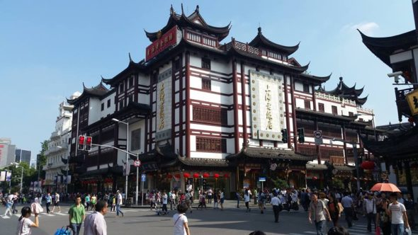 Okolice handlowej części dzielnicy Yuyuan.