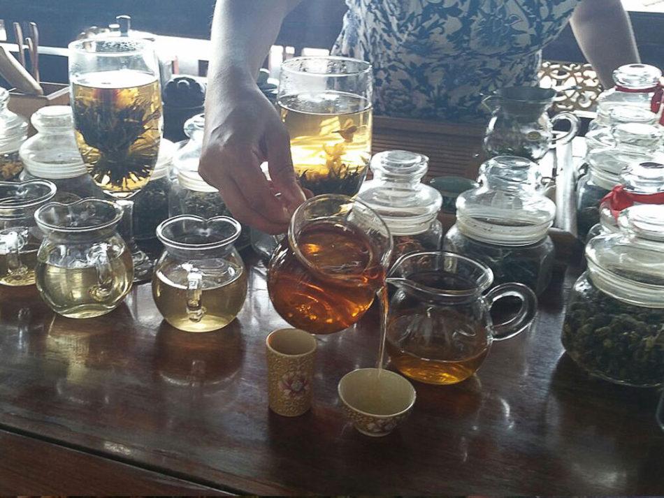 Ceremonia parzenia herbaty w Szanghaju.