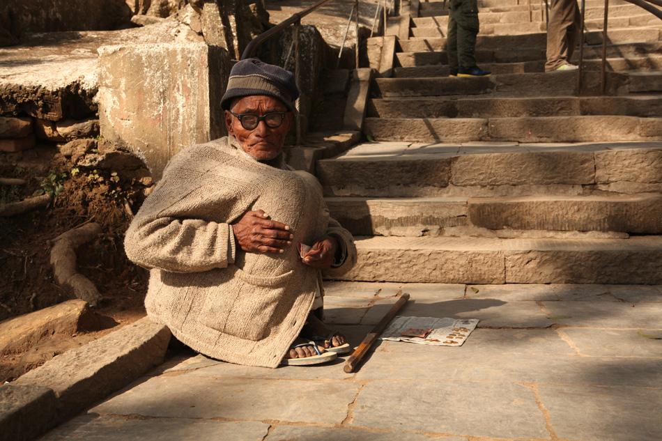 Beggar. Street-life in Kathmandu, Nepal
