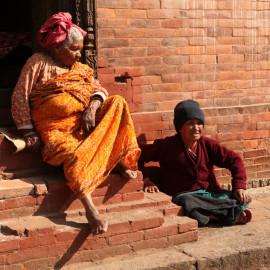Elders in Kathmandu, Nepal